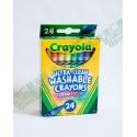 Crayola Ultra-Clean Washable Crayons 超易潔淨蠟筆24支 水洗可洗去色彩