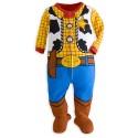z (停售) Disney Toy Story Woody Stretchie for Baby 反斗奇兵胡迪造型嬰兒長袖連身包屁衣 100% 有機棉