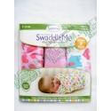 Summer Infant SwaddleMe Cotton 初生BB 純棉包巾包被 3件優惠套裝 女仔款 (心心大象)