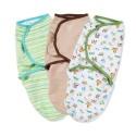 Summer Infant SwaddleMe Cotton 初生BB 純棉包巾包被 3件優惠套裝 中性款 (動物圖案)