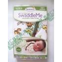 Summer Infant SwaddleMe Cotton BB 純棉包巾包被 1件裝 大碼 (3至6個月) Graphic Jungle