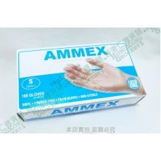 AMMEX Medical Clear Vinyl Gloves 乙烯基一次性手套100件 FDA 認可 Size S 適合女性及小童