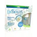 Dr Brown's PP 8oz 3件奶樽套裝 寬口 專利氣管 防嬰兒氣脹嘔奶 唔漏奶